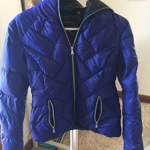 Blue Guess Down Winter Coat